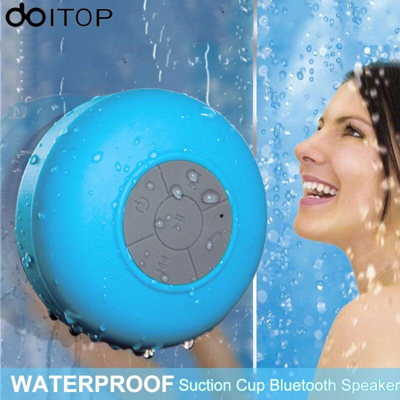 DOITOP Portable Bluetooth Sans Fil Haut-Parleur Douche Mains Libres Appel gratuit Haut-Parleur Étanche avec Ventouse pour Téléphones De Voiture Subwoofer