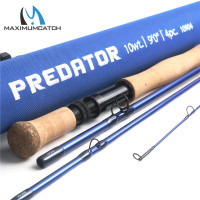 Maximumcatch Predator 9FT Saltwater Fly Fishing Rod 30T SK Carbon Fiber 8wt/9wt/10wt/12wt 4pc Fly Rod with Cordura Rod Tube