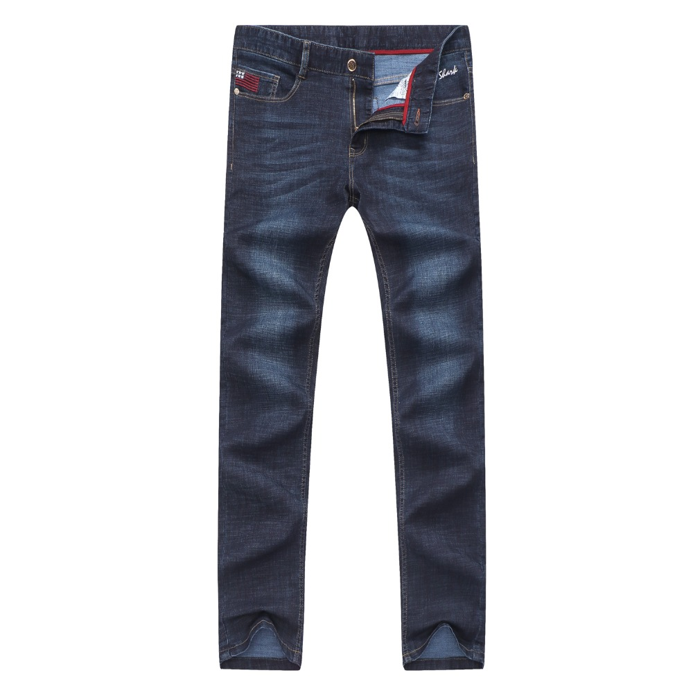 2019 New Tace & Shark brand jeans men smart casual business jeans trousers male jeans homme embroidery denim men's jeans 40 42