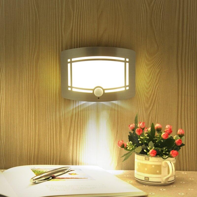 Светодиодный ночник яркий движения Сенсор энергосбережения шкаф спальня лестнице настенный светильник