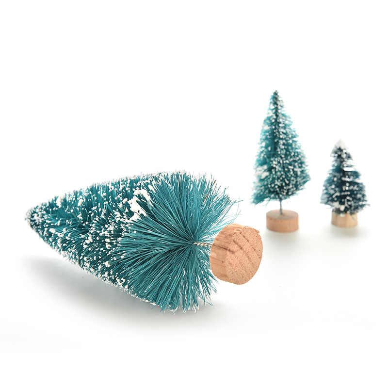 1PCS Árvore de Natal UM Pequeno Pinheiro Colocado Na Área de Trabalho Mini Natal Decoração Para Casa Natal 3 tamanho
