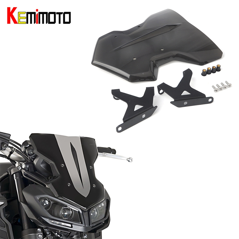 kemimoto for yamaha mt 09 mt09 accessories 2017 windshield. Black Bedroom Furniture Sets. Home Design Ideas