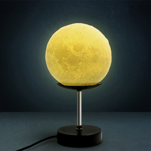 3D estéreo lâmpada noite de lua moda minimalista personalidade mobiliário doméstico nightlight lâmpadas de mesa