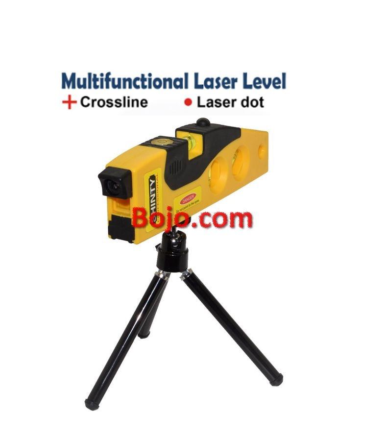 все цены на Free Shipping Portable Multipurpose Horizon Vertical Laser Spirit Level Measure & Dot Switch with rotary tripod stand Magnetic онлайн