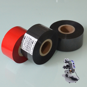 Black Width 35mm length 120M hot stamp date coding machine ink printing foil on Medical industry