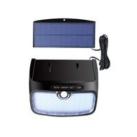 Waterproof 28 38 48 LED Solar Panel Power Light PIR Motion Sensor Wall Lamp Outdoor Path Yard Garden Fence Night Light