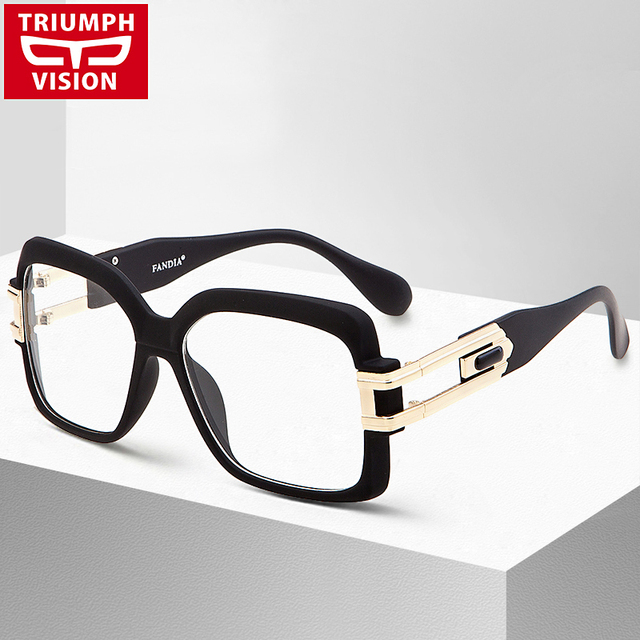 TRIUMPH VISION Clear Lens Glasses Frame Women Square Black Optical Eyewear Frames Female Cool Big Spectacle 2017 New Eyeglasses