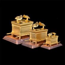 גדול גודל יודאיקה זהב ארון של הברית נוצרי קתולי עבודות יד מתנה ברית