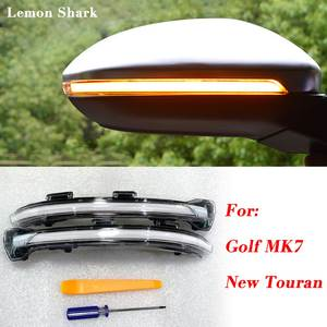 LEMON SHARK LED Flowing Rear View Rear Side Mirror Water Turn Signal Light For VW Golf 7 MK7 VII GTI 7.5 New Touran