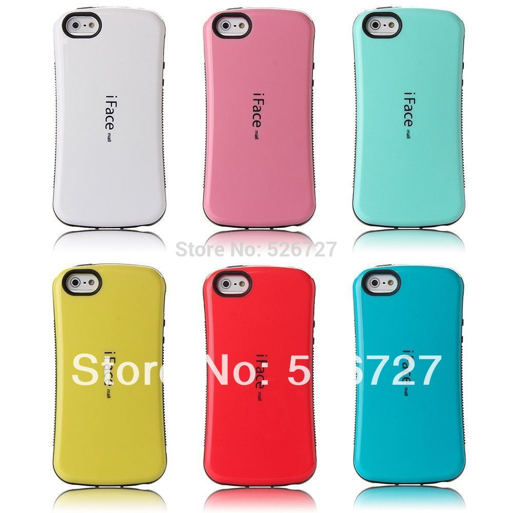 Candy Color Korea Style Shockproof iFace Case For iphone 5 5s SE TPU+PC Hybrid Hard Case Silicone Cover for iphone SE 5 5S 5G