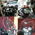 "Motorcycle Windshield Windscreen For Honda Rebel 250 Sabre 1300 Shadow ACE 1100 Aero 750 With 7/8"" And 1"" Handlebars"