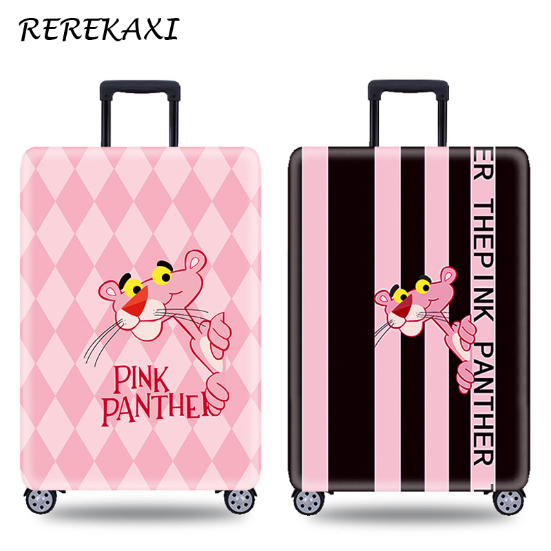 Cartoon Panther Luggage Cover 18-32 Inch Suitcase Elastic Protective Covers Trolley Baggage Dust Case Cover Travel Accessories