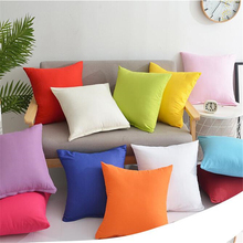 Candy Color Throw Pillow Case Covers Plain Pillowcase Cover Home Decor Cushion Cover 45x45cm Cotton