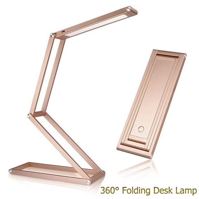 USB Built-In Battery Foldable LED Desk Lamp 2 Level Brightness Dimmable Portable Table Lamp Eye care Energy Efficient