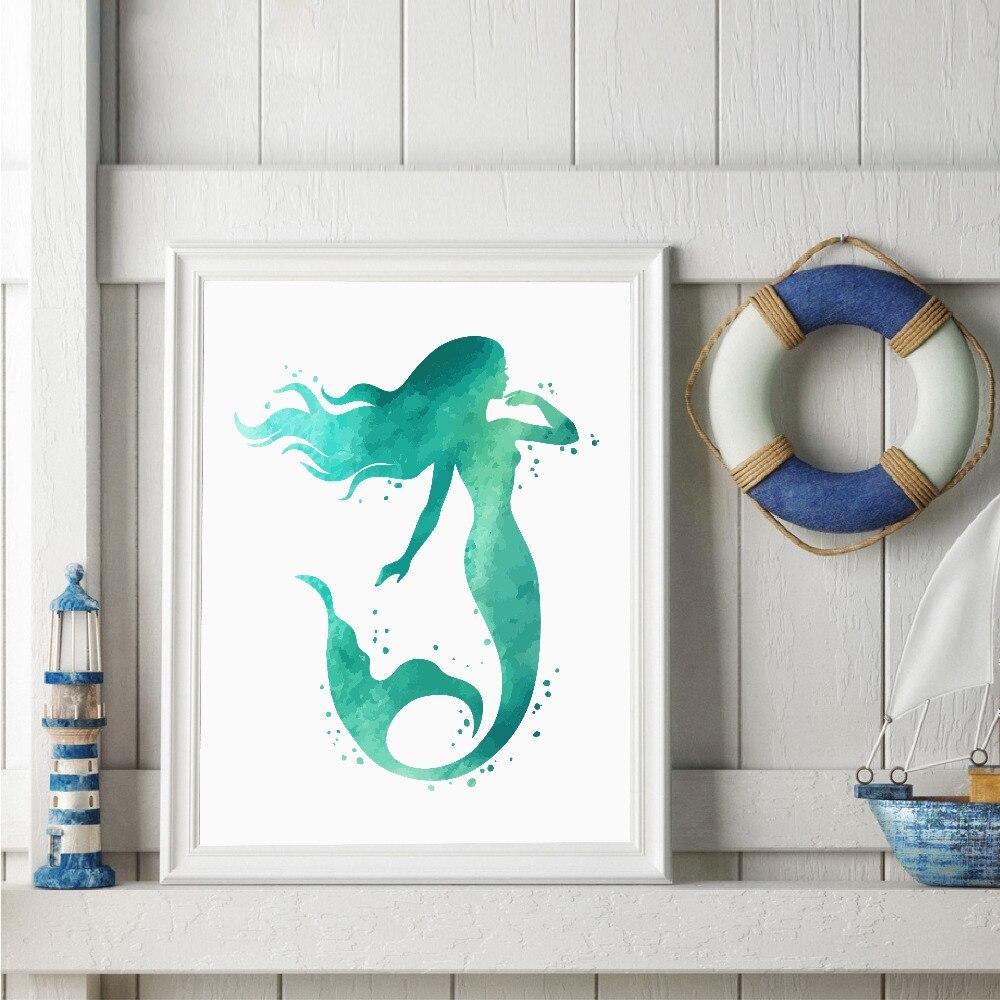 Mermaid Wall Art popular mermaids wall art-buy cheap mermaids wall art lots from