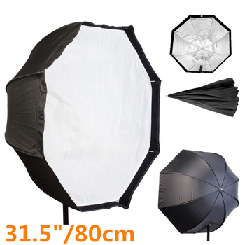 Photo Studio 80cm Octagon Umbrella Softbox Diffuser Reflector Photography Soft Box Light Box for Speedlite Flash