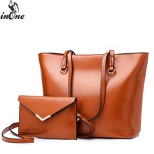 купить INONE Ladies Hand Bags Women Shoulder Bags Litchi Grain PU Faux Vegan Leather 2 in 1 Tote Handbag Envelope Crossbody Travel Bag по цене 3655.16 рублей