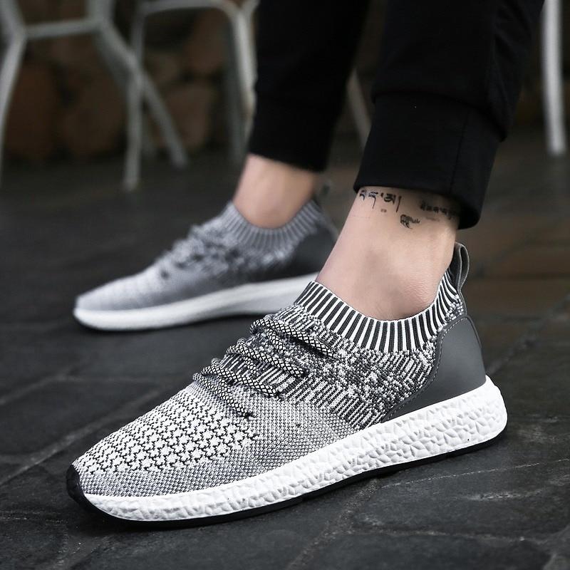 Noir Hommes Luxe Maille Chaussures gris Printemps OccasionnelsMx811622 Mode Marque De qpGSzVUM