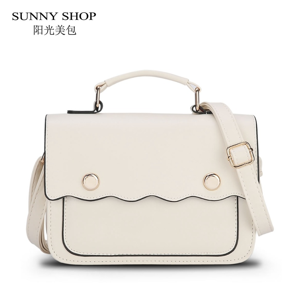 SUNNY SHOP 2017 Spring New Candy Color Shoulder Bags Fresh Style Small Messenger Bags Cute School