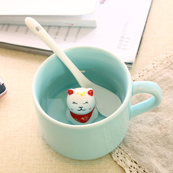 3D Figurine Creative Animal Ceramic Cup