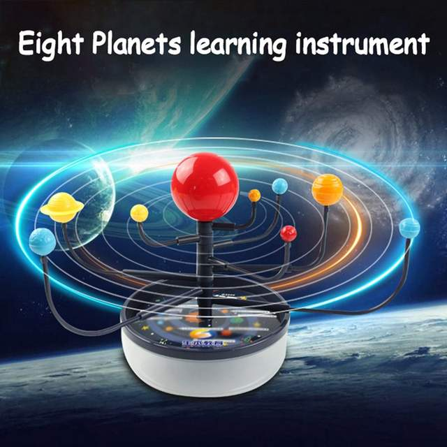 US $4 51 |Children Creative Funny Popular 3D Plastic Planets Science Solar  System Model Assembling Toys Education Toys-in Model Building Kits from