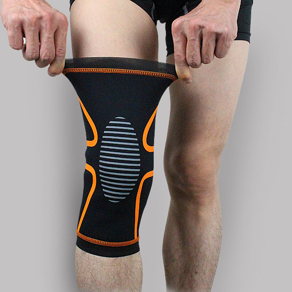 Sports Support Short Knee Protection Striped Knee Brace Compression Sleeve 1PC SPSLF0056
