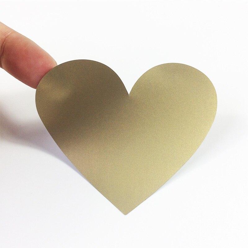 Купить с кэшбэком 50 Pcs/lot DIY Heart Scratch Coating Sticker Note Decoration Label Multifunction Surprise lover Gift