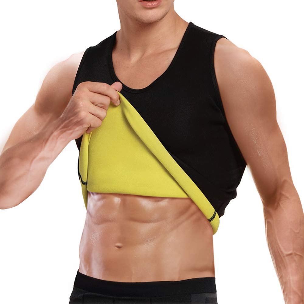 Men Slimming <font><b>Shirt</b></font> Tops Shapewear Tight <font><b>T</b></font>-<font><b>Shirt</b></font> Body Shapers <font><b>Neoprene</b></font> Weight Loss Waist Trainer Super Stretch Sweat Sauna M-2XL image