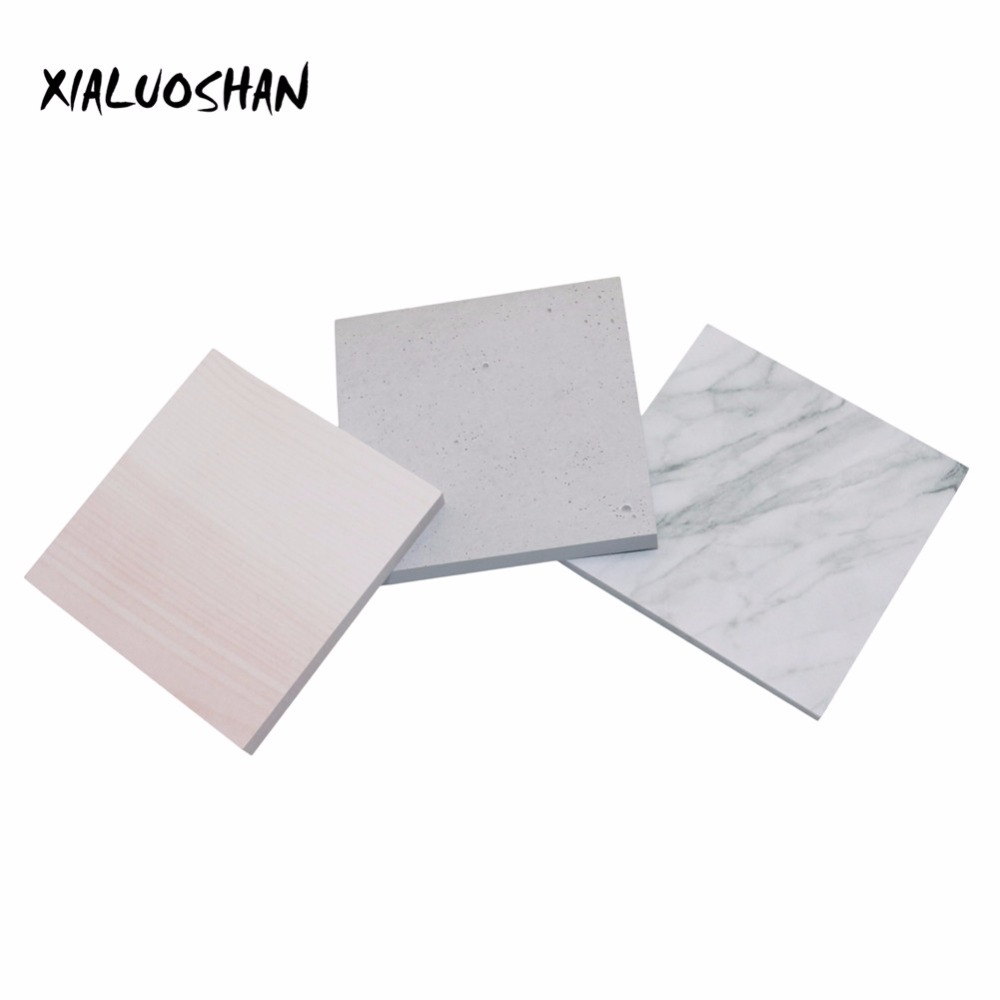 6style variety of marble stripes creative self-adhesive type notebook N times posted home students school office supplies 1PC