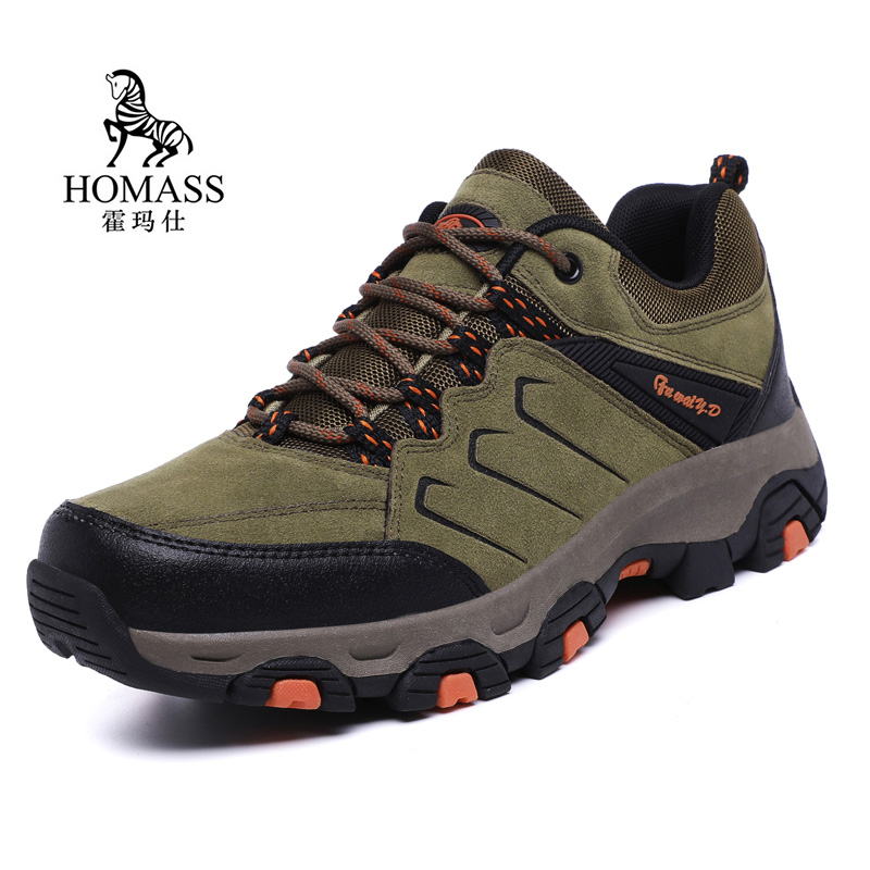 Large Size 39-45 Men's Hiking Shoes Male Outdoor Antiskid Hiking Boots Breathable Trekking Climbing Mountain Sneakers for Male