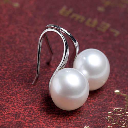 Модные жемчужные серьги-гвоздики для женщин, подарок, серебряные золотые серьги для невесты, Висячие женские дешевые ювелирные изделия Ali express