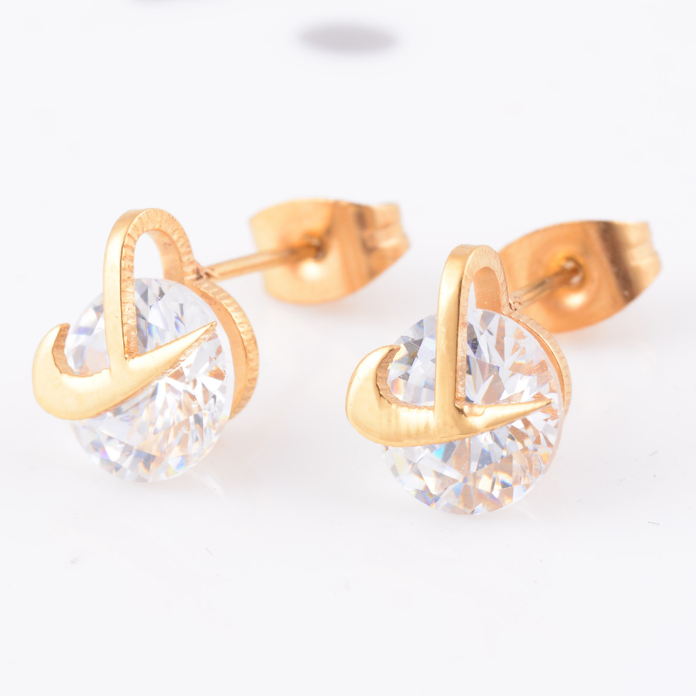 316l Stainless Steel Gold Earrings Women And Girls Homtom Ht17 Journey From The First Circuit Board To Delivery Fashion Classic Crystal Ear Studs Jewelry Free Shipping