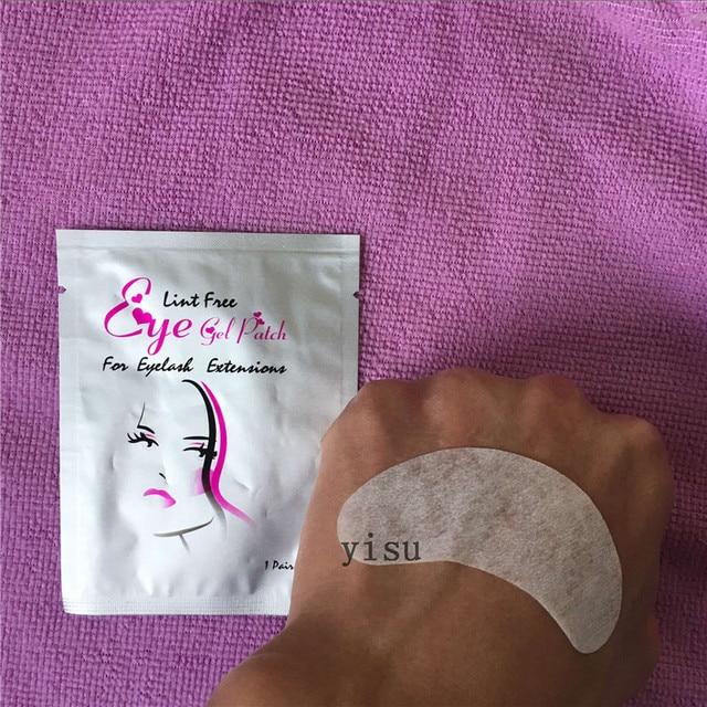 Wholesale 100 pairs/lot eyelashes Paper Patches Eye Pads Women makeup tools eyelash extension lint free 7*3.3cm 3