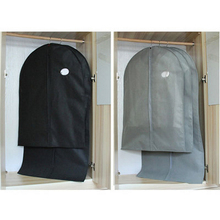 1Pcs Non-woven Bag Clothes Dust Cover with Zipper Storage Home Protect Costume Suit Case Organizer