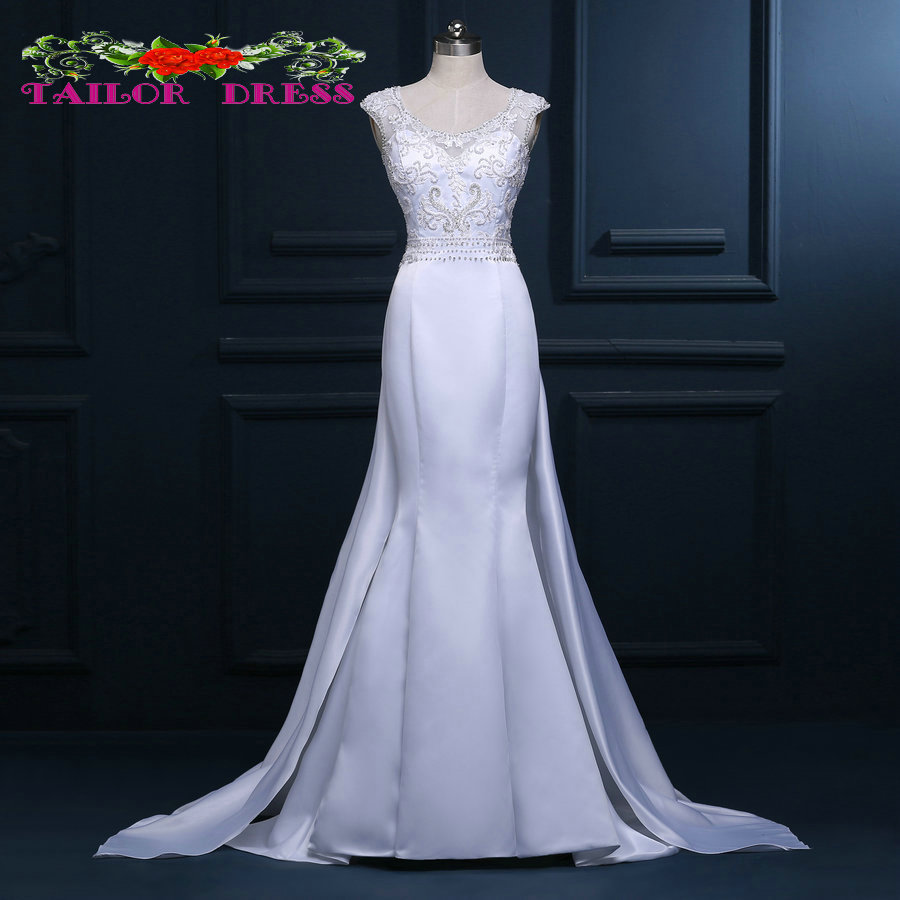Popular queen anne neckline wedding dress buy cheap queen for Queen anne neckline wedding dress
