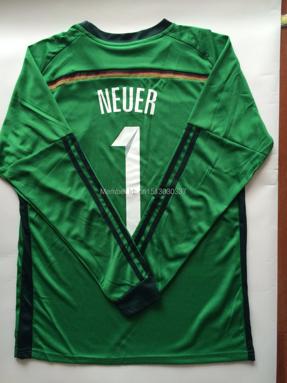 cee5bed846c Top Quality Thai Germany soccer jersey goalkeeper jersey Manuel Neuer jersey  4 Stars kit World Cup 2014 Germany goalkeeper shirt-in Soccer Jerseys from  ...