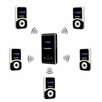 Professional Wireless Tour Guide System Sets 195 230MHz For Meeting Church Simultaneous Translation Museum Travel Square