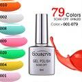 2017New!79Colors Gel Lacquer DIY Nail Art Salon UV Nail Polish 8ML1Pcs Soak Off Gel Lucky Free Shipping Nail Varnish