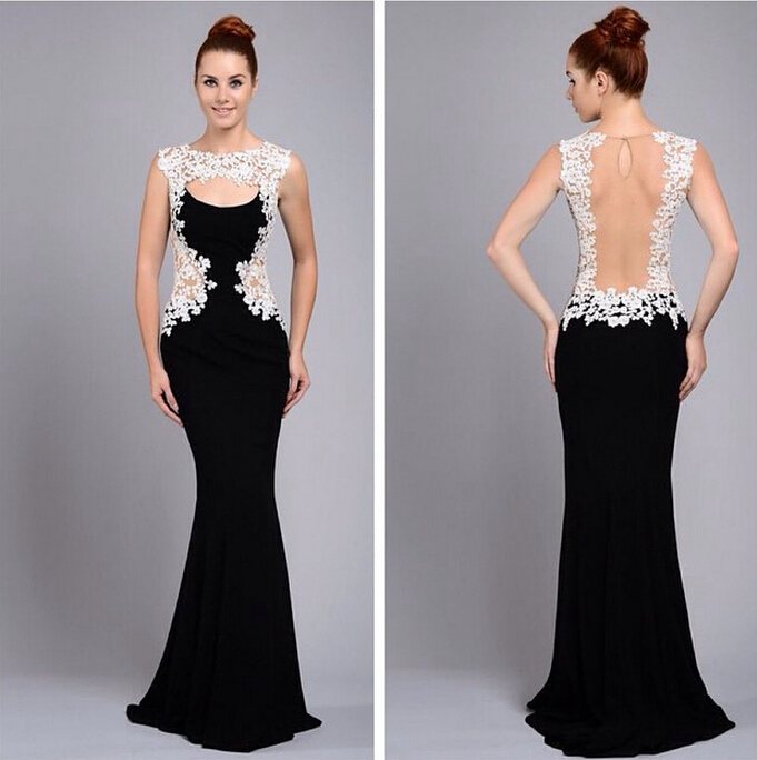 23896a9b1 Nueva moda apliques Vestidos Noche escarpado largo elegante vestido de  fiesta a partido mujeres Vestidos de Noche formales Vestidos de Noche en  Vestidos de ...