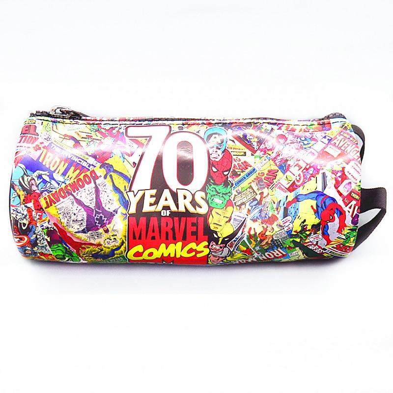 New Arrival Dc Comics Wallet Marvel 70 Anniversary Captain America Coin Pouch Wallets Zipper Bag Purse Pencil Pen Case Cases archie giant comics 75th anniversary book