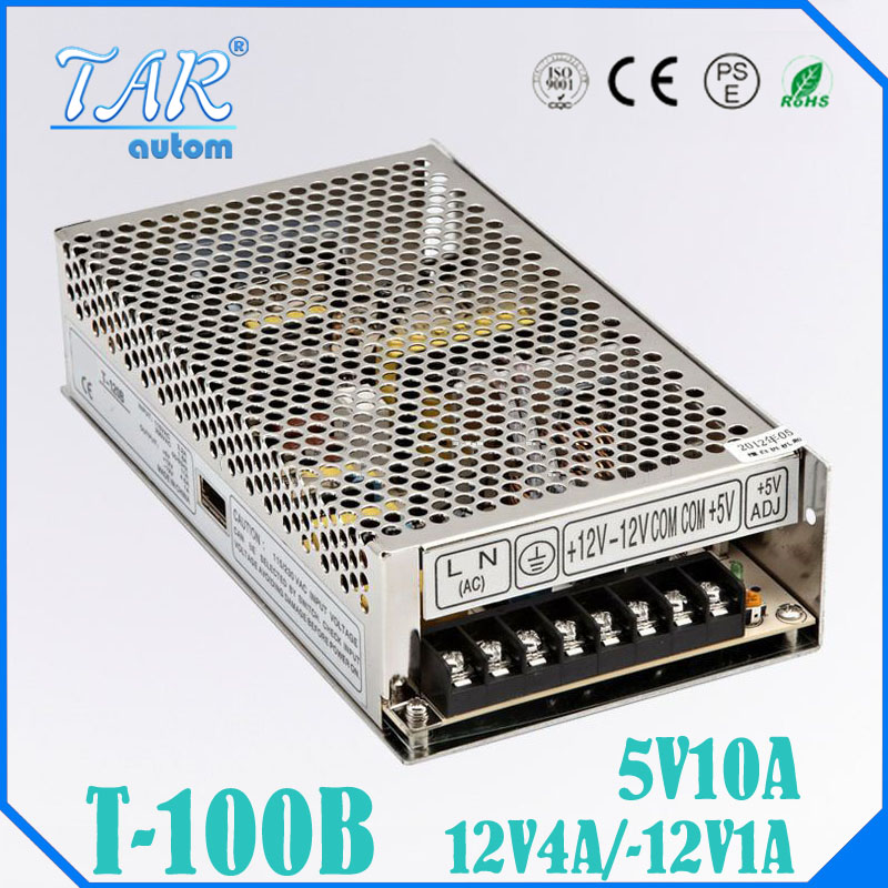ФОТО 100W Triple output switching power supply 5V 12V -12V 3A 1A 0.5A power suply T-100B High quality ac dc converter