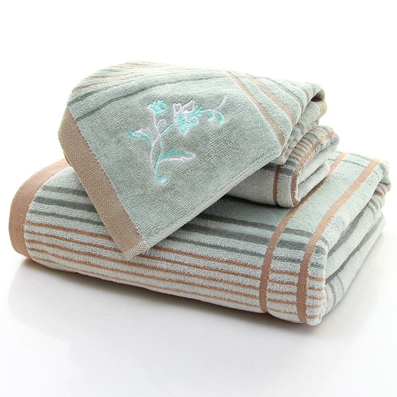 Coton adulte épaississement pour augmenter la coupe velours absorbant plage hôtel serviette de bain ensembles