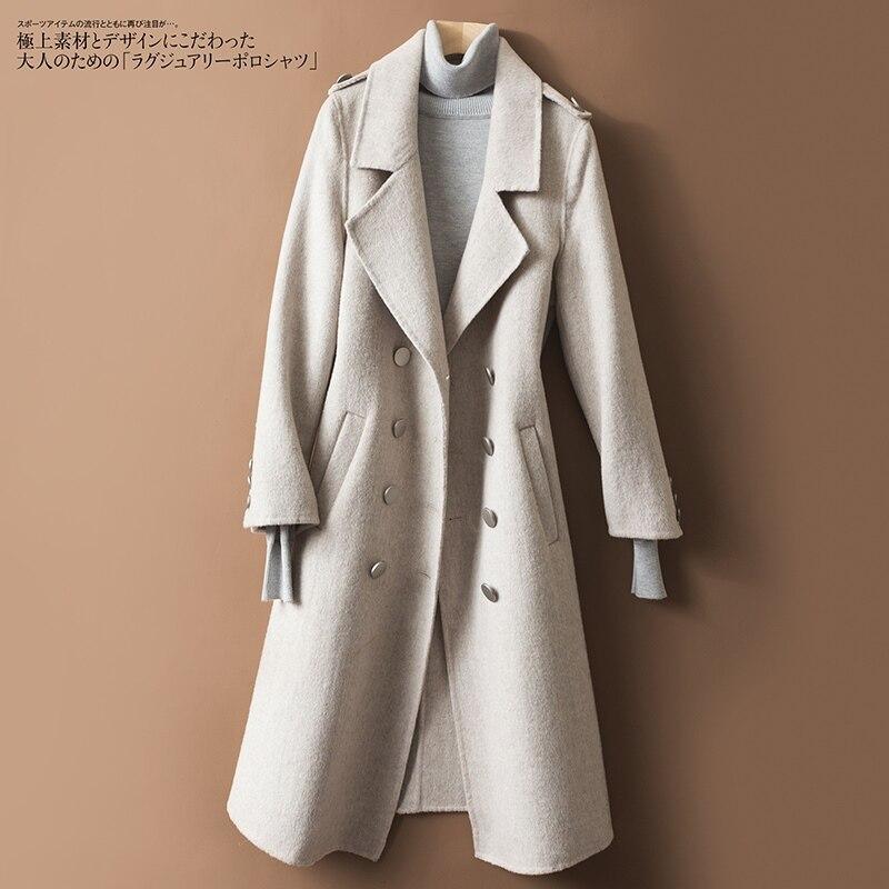 Weikhakihellbraun e t Aprikose Frauen Qualit Neue Mode Herbst Und Base Lange Hei Winter Wolle Zweireiher Ldzwsm Coat Hohe Kaschmir PXOiTkwZul