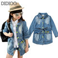 Children clothing denim coat for girls jackets autumn & spring outwear kids clothes baby girl top outfits 2 4 6 7 8 10 years old