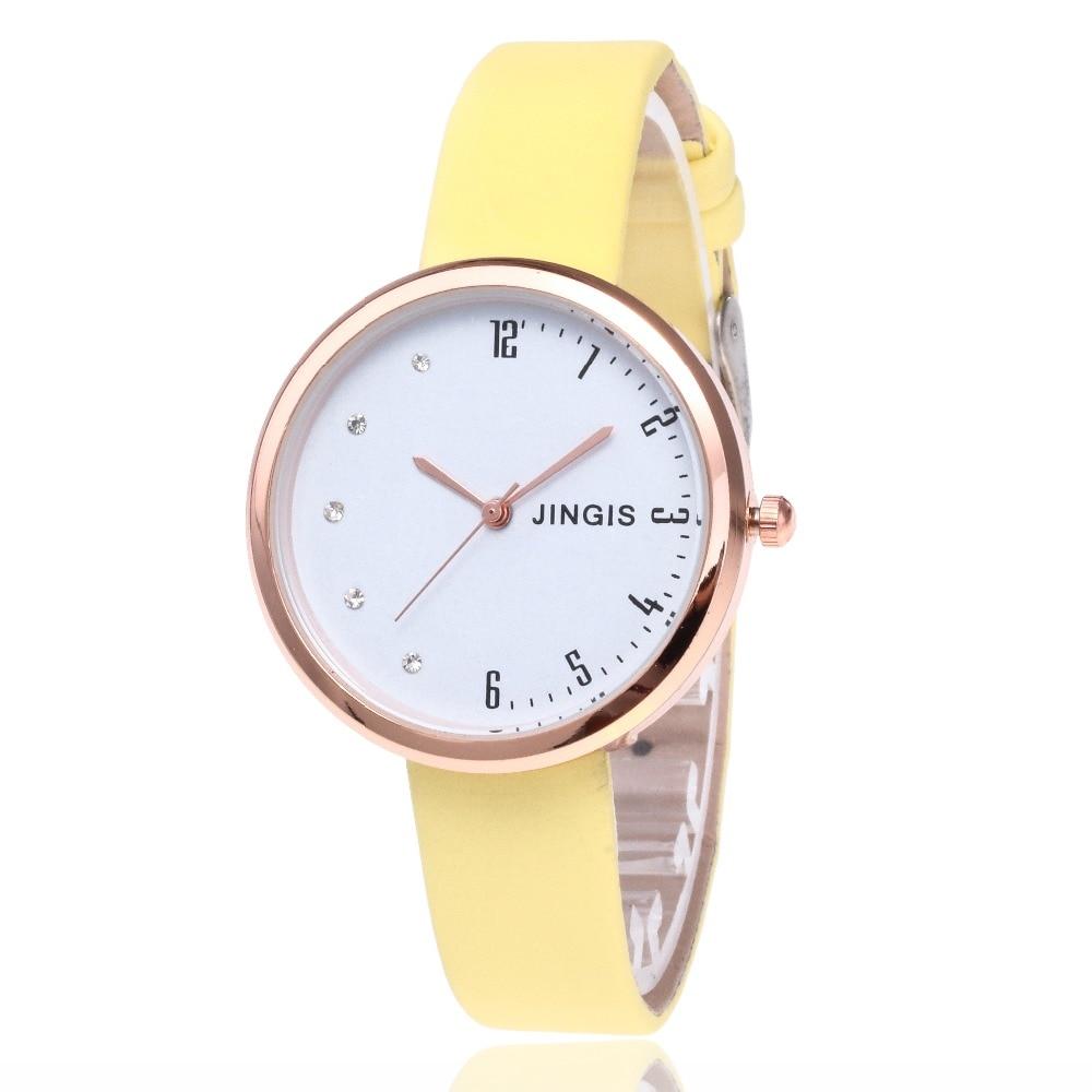 New Fashion Women Watches Women Leather Rose Gold Analog Quartz Wrist Watch Montre Femme Clock Bayan Kol Saati Zegarek Damski