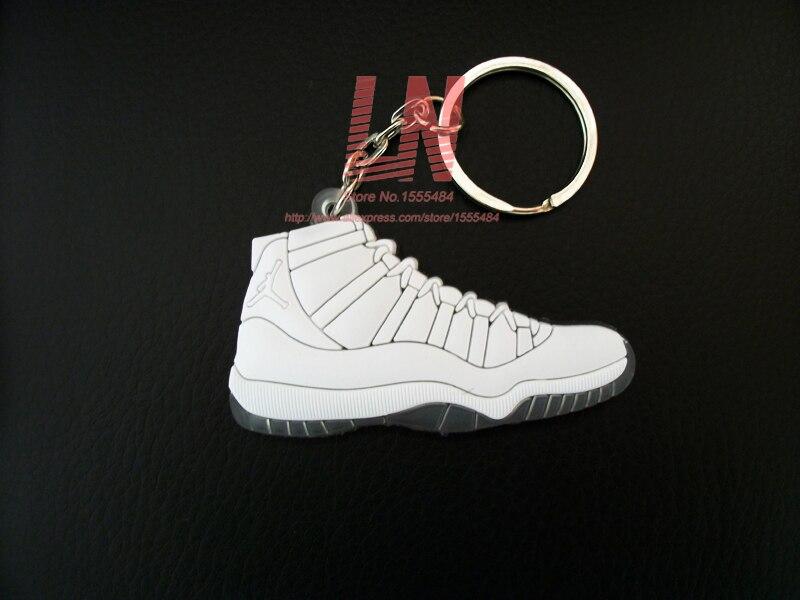 regard détaillé bee31 25bca € 0.65 49% de réduction 17 couleurs Mini Silicone Jordan 11 Porte clés Sac  Charme Femme Hommes Enfants Porte clés Cadeaux Sneaker Porte clés ...