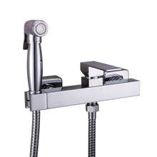 spray faucet seat Solid Brass Chrome Handheld Bidet ,Toilet Portable Shower Set With Hot and Cold Water Mixer