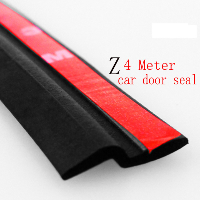 4Meter Z type 3M car door rubber seal Sound Insulation , car door sealing strip weatherstrip edge trim noise insulation