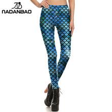 NADANBAO Brand New Scale Women leggings Mermaid Leggins Printed legins Woman Clothings