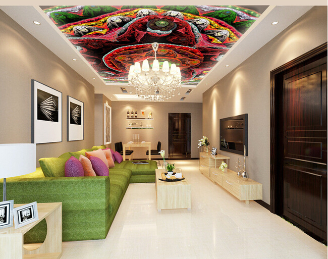 Custom wallpaper 3D, abstract color flower murals for the living room bedroom KTV ceiling wall waterproof papel de parede custom 3d ceiling wallpaper beautiful sky maple murals for the living room bedroom ceiling wall waterproof wallpaper